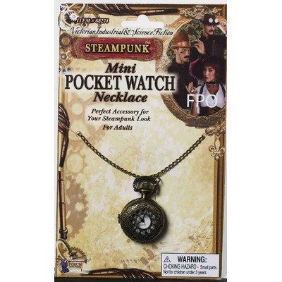 Steampunk Mini Pocket Watch Necklace (Costume Pocket Watch)
