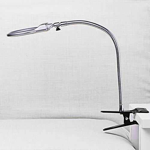 Vinmax Clip Lighted Table Top Desk Magnifier Lamp LED Lig...