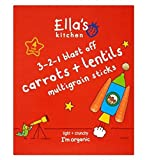Ella'S Kitchen 3-2-1 Blast Off Carrots + Lentils Multigrain Sticks 4 X 15G - Pack of 2