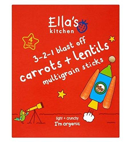 Ella'S Kitchen 3-2-1 Blast Off Carrots + Lentils Multigrain Sticks 4 X 15G - Pack of 2 by Ella's Kitchen