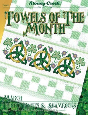 Towels of The Month March Trinity Knots /& Shamrocks Cross Stitch Chart