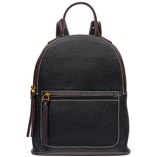 On Clearence - FIGESTIN Women Cowhide Leather Backpack Purse Mini Satchel School bags for College