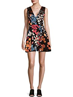 3c8471ca5c2 Alice   Olivia Tanner Floral Print Layered Ruffle Fit   Flare ...