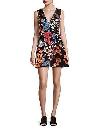 25e9c0fc984 alice + olivia Patty Lantern Floral Mini Dress at Amazon Women s ...