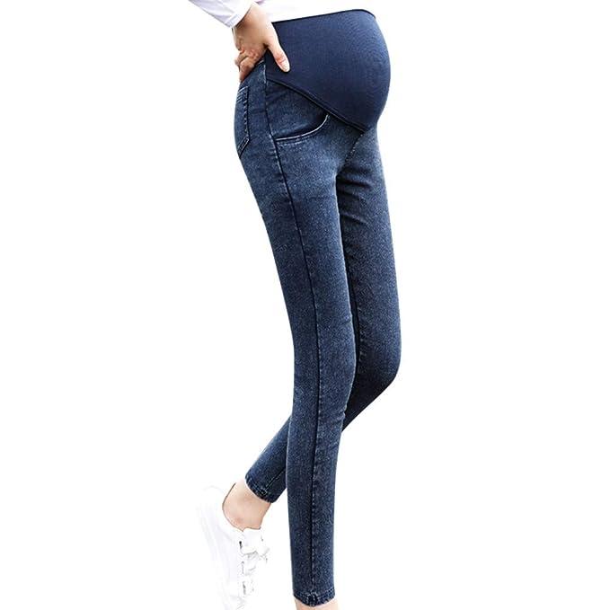 Premamá Leggings Vaqueros, SUNNSEAN Pantalones Elásticos para ...