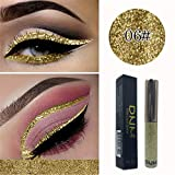 GoodLock Hot!! Fashion Glitter Shiny Liquid Eyeshadow Ladies Waterproof Long Lasting Shimmer Eyeliner Colorful Cosmetic (F)