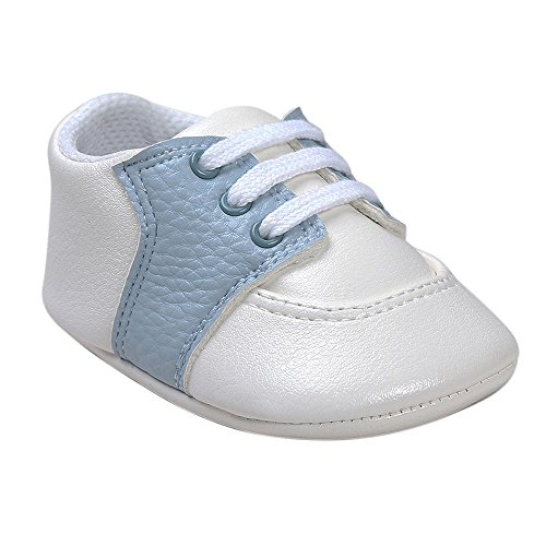 Pictures of Kuner Newborn Baby Boys Girls Pu Leather White+sky Blue 8