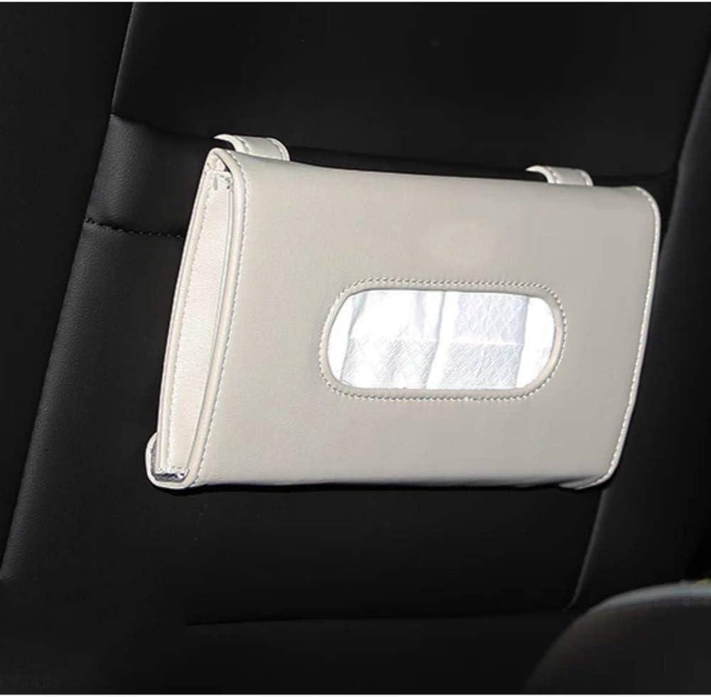 PU Leather Van Truck Vehicle Tissues Case Dispenser for Backseat and Sun Visor Joyindecor Car Visor Tissue Box Holder Refill Paper Included Beige