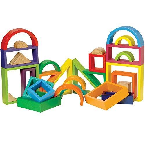 CP Toys 38 pc. Hardwood Multi-Colored Designer Blocks (Designer Block)