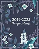 """2019-2023 Five Year Planner: 60 Months Planner and Calendar Agenda And Organizer 8"""" x 10"""" with Blue Florals"""