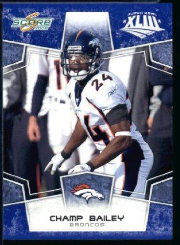 2008スコアSuperbowlブルーNFLフットボールカード – 1200 ( to Limited to 1200 Made – ) # 93 Champ Bailey CB – Denver Broncos B00B7TV5SE, 食器専門店テーブルウェアイースト:61eac450 --- harrow-unison.org.uk