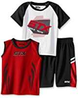 STX Little and Big Boys' 3 Piece Performance T-Shirt, Tank, and Short