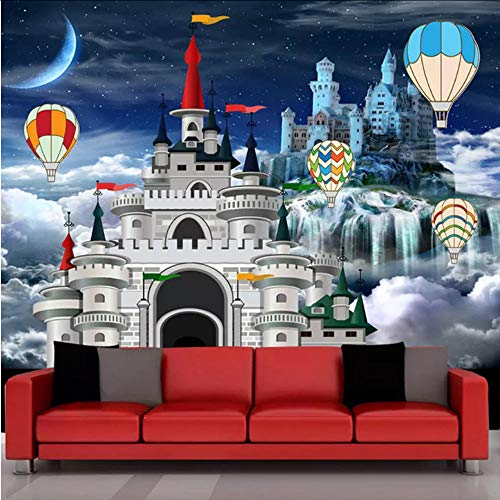 xbwy Custom Mural Wallpaper 3D Castle Fairy Tale Photo Wall Painting Children's Bedroom Cartoon Background Wall Decor -400X280Cm
