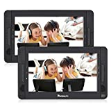 "10.1"" Dual Screen Portable DVD Player with 5-Hour Built-In Rechargeable Battery-Black (Host DVD Player+ Slave Monitor)"