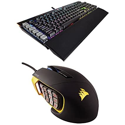 c47b9bdbc3c Corsair Gaming K95 RGB PLATINUM Mechanical Keyboard, Cherry MX Speed, Black  (CH-