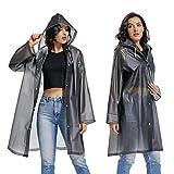 UNIQUEBELLA Clear EVA Raincoat Women Waterproof Rain...