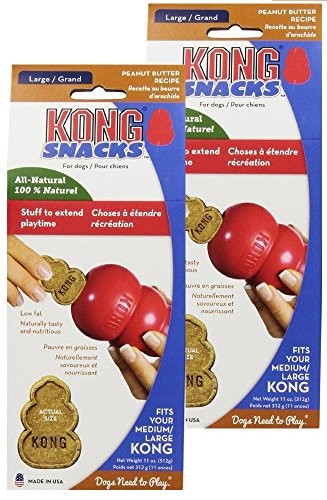 KONG Stuff'N Snacks, Peanut Butter 11 oz, Pack of 2