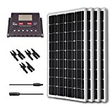 Renogy 400 Watt 12 Volt Monocrystalline Solar Bundle Kit with 30A PWM Controller - LCD Display
