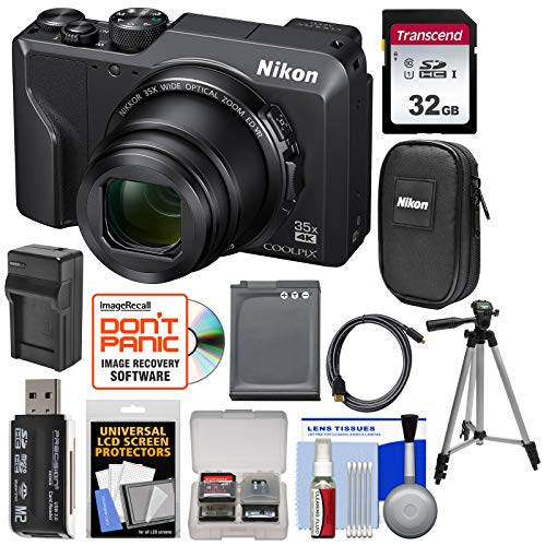 Nikon Coolpix A1000 35x 4K Wi-Fi Digital Camera with 32GB Card + Battery + Charger + Tripod + Case + Kit ()