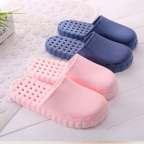 Home Anti House Men Slipper Finleoo Bath Sandal Slip 06blue Indoor Women 14qTByp