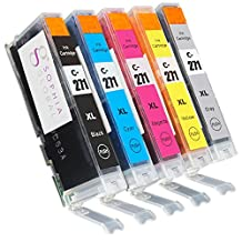Sophia Global Compatible Ink Cartridge Replacement for Cli-271XL, 1 Black, 1 Cyan, 1 Magenta, 1 Yellow, 1 Gray
