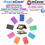iPearl mCover Hard Shell Case for 2016 13.3 Dell Inspiron 13 7368 / 7378 2-in-1 Convertible ( NOT compatible with older Dell Inspiron 7347 / 7348 / 7352 / 7359 models ) Laptop (Black)