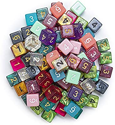 100+ Pack of Random D6 Polyhedral Dice in Multiple Colors: Amazon.es: Electrónica