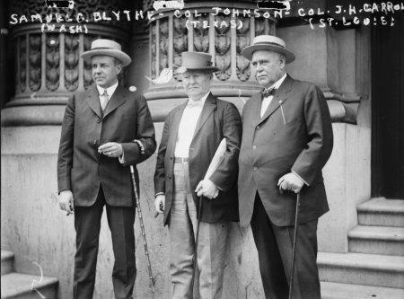 Early 1900S Photo Sam  Blythe  Wash  Col  Johnson  Tex  Col  J H  Carrol Vint F8