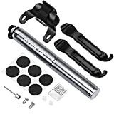 Canway Bike Pump Portable, Bicycle Pump Mini 160 PSI/11bar,Bike Tire Air Pump Fits Presta & Schrader Valve,Perfect For Basketball, Soccer,Inflatable Toys