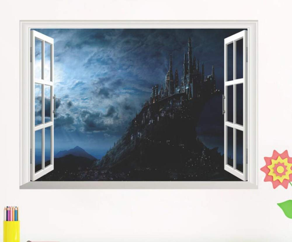 Magic harry potter castillo pegatinas de pared cartel 3d ...