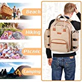 ALLCAMP Picnic Backpack for 4 Person with
