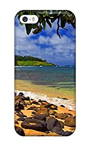 Premium BbRCZoX2104HBILP Case With Scratch-resistant/ Beach Shade Hawaii Case Cover For Iphone 5/5s