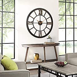 FirsTime & Co. 10084 Big Time Wall Clock, 40, Oil Rubbed Bronze