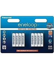 Panasonic Eneloop Rechargeable AAA Batteries 8 Pack