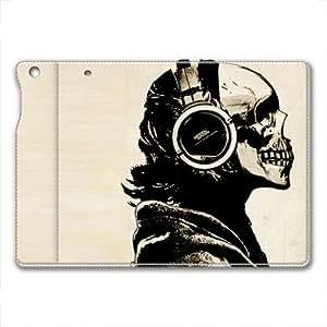 IPad Air 1 Case,IPad Air 1 Case, IPad Air 1 retina case ,Skull wearing headphones Custom IPad Air 1 retina High-grade leather Cases