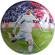 iSport Gifts Cristiano Ronaldo #7 Madrid Kids Soccer Ball ✓ Size 5 for Kids & Adult ✓ Premium Gift Youth S