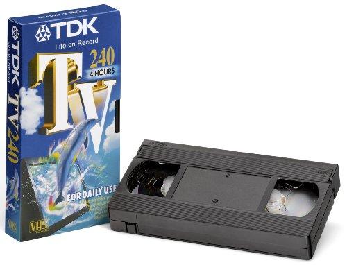TDK T12730 VHS Videokassette TV-240 (5 Stück) 240 Minuten Laufzeit