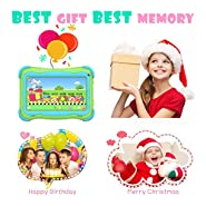 Kids Tablet 7 Android Kids Tablet Toddler Tablet Kids Edition Tablet with WiFi Dual Camera Childrens Tablet 1GB + 16GB Parental Control, Google Play Store
