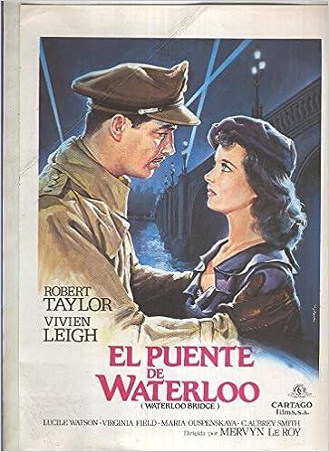 Caratula cine: El puente de Waterloo (Robert Taylor - Vivien ...