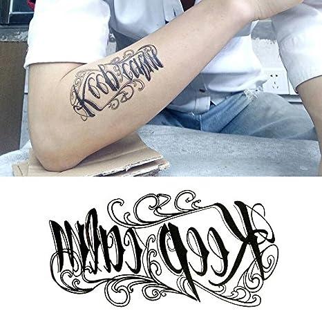 Oottati 15 Hojas Pequeñas Cute Tatuajes Temporales Rosa Lotus Fox ...