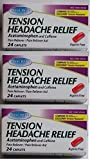 Tension Headache Relief Acetaminophen Caffeine (Compare to Excedrin) 24 Ct (3 Pack)