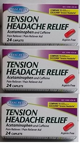 Tension Headache Relief Acetaminophen Caffeine (Compare to Excedrin) 24 Ct (3 ()