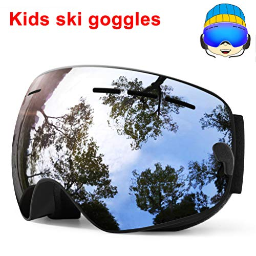 413acea0c1a TUONROAD Youth Mirrored Snow Goggles