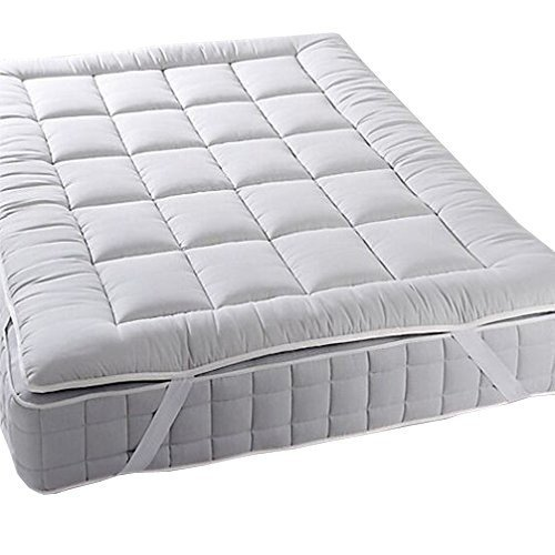 Royal Plush MATTRESS TOPPER, Queen, 2 Inches Hypoallergenic Overfilled Down Alternative Anchor Bands Mattress Topper