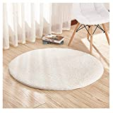 Furnily Round Area Rugs Super Soft Living Room Bedroom Home Shag Carpet Diameter 4-Feet