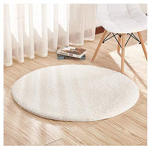 Furnily Round Area Rugs Super Soft Living Room Bedroom Home Shag Carpet Diameter 4-Feet ()