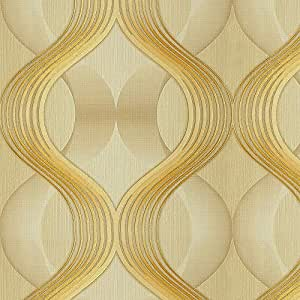 I Décor Geometrics Collection Wallpaper, 15.6 X 1.06 Meter, Beige - 54332-3