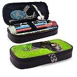Irish Water Spaniel Leather Pencil Case Zipper Pen Bag Box Holder Students Pencils Highlighters Pencil 8