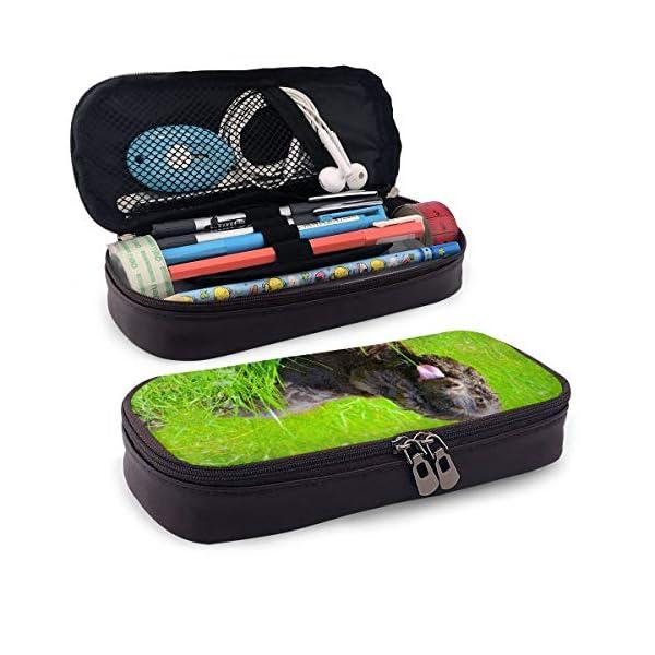Irish Water Spaniel Leather Pencil Case Zipper Pen Bag Box Holder Students Pencils Highlighters Pencil 2
