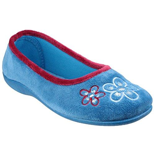 Mirak - Zapatillas de estar por casa con detalle floral modelo Arles para mujer Azul